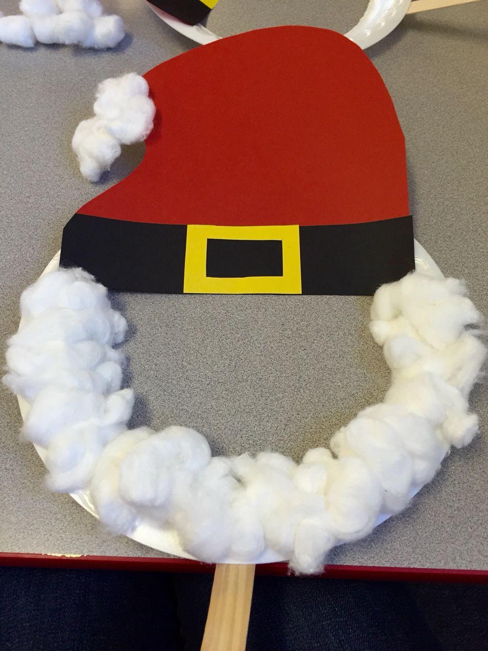 Paper plate Santa mask & Paper plate Santa mask | Preschool Crafts | Pinterest | Santa Craft ...