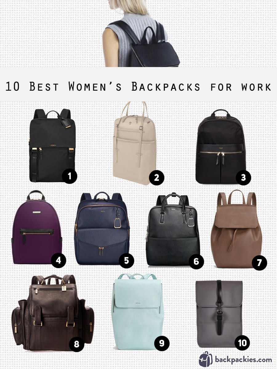 10 Best Women's Backpacks for Work that are Sophisticated and Smart