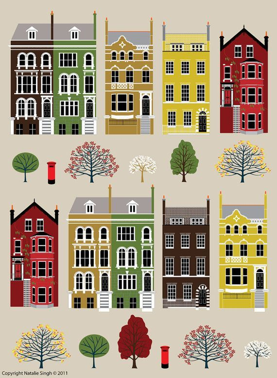 Image result for illustrated cityscapes inspirational for Art conceptuel peinture