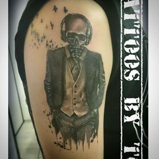 skull in suit tattoo - Google-søgning   Dövme Fikirleri ...