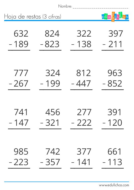Ejercicios De Sumas Restas Multiplicaciones Y Divisiones Para Imprimir Buscar Con Goog Actividades De Resta Ejercicios De Calculo Matemáticas De Primer Grado