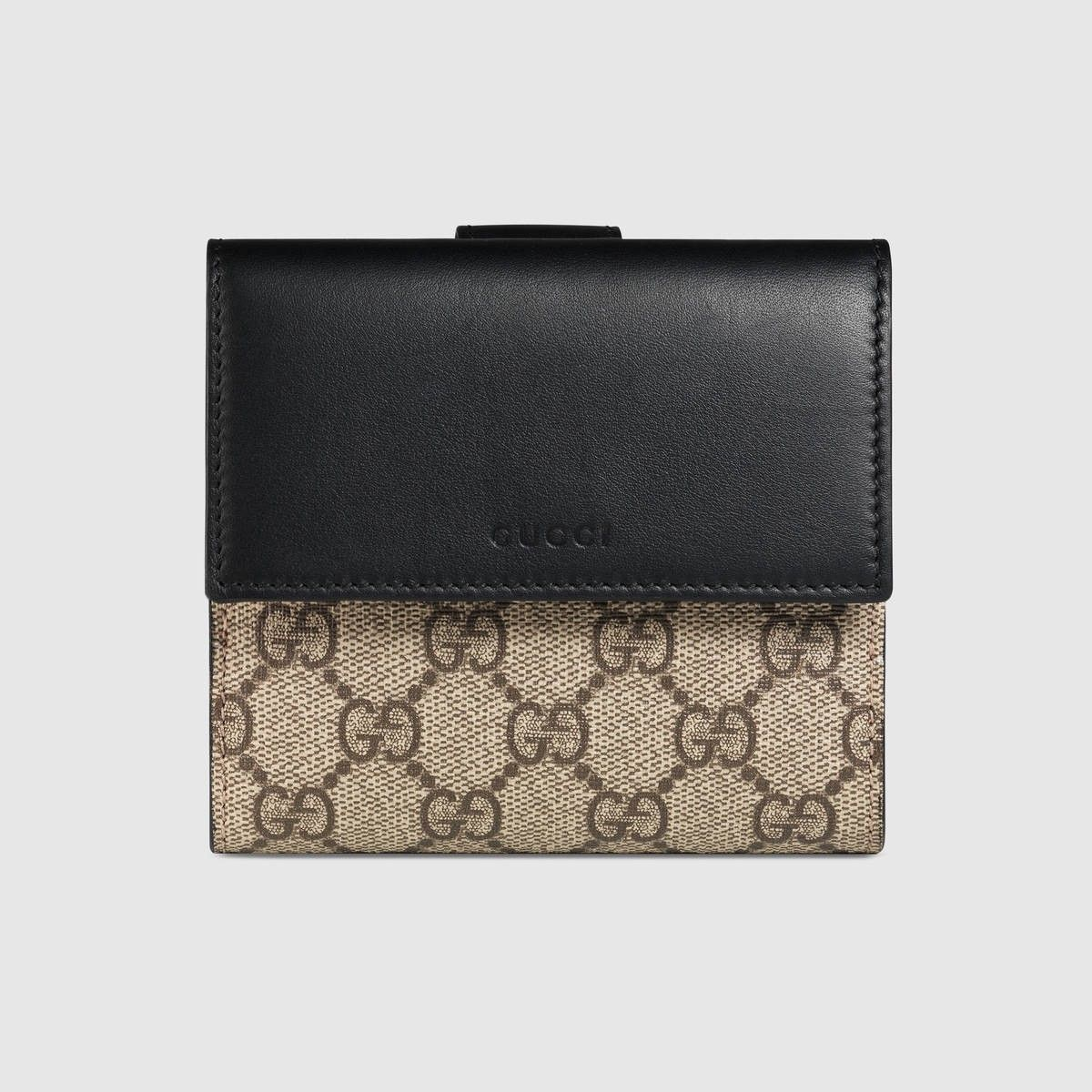 744cde30642 GUCCI. Gucci WalletFashion AccessoriesWomen AccessoriesSmall WalletSupremeBlack  LeatherCanvasesFrenchShopping