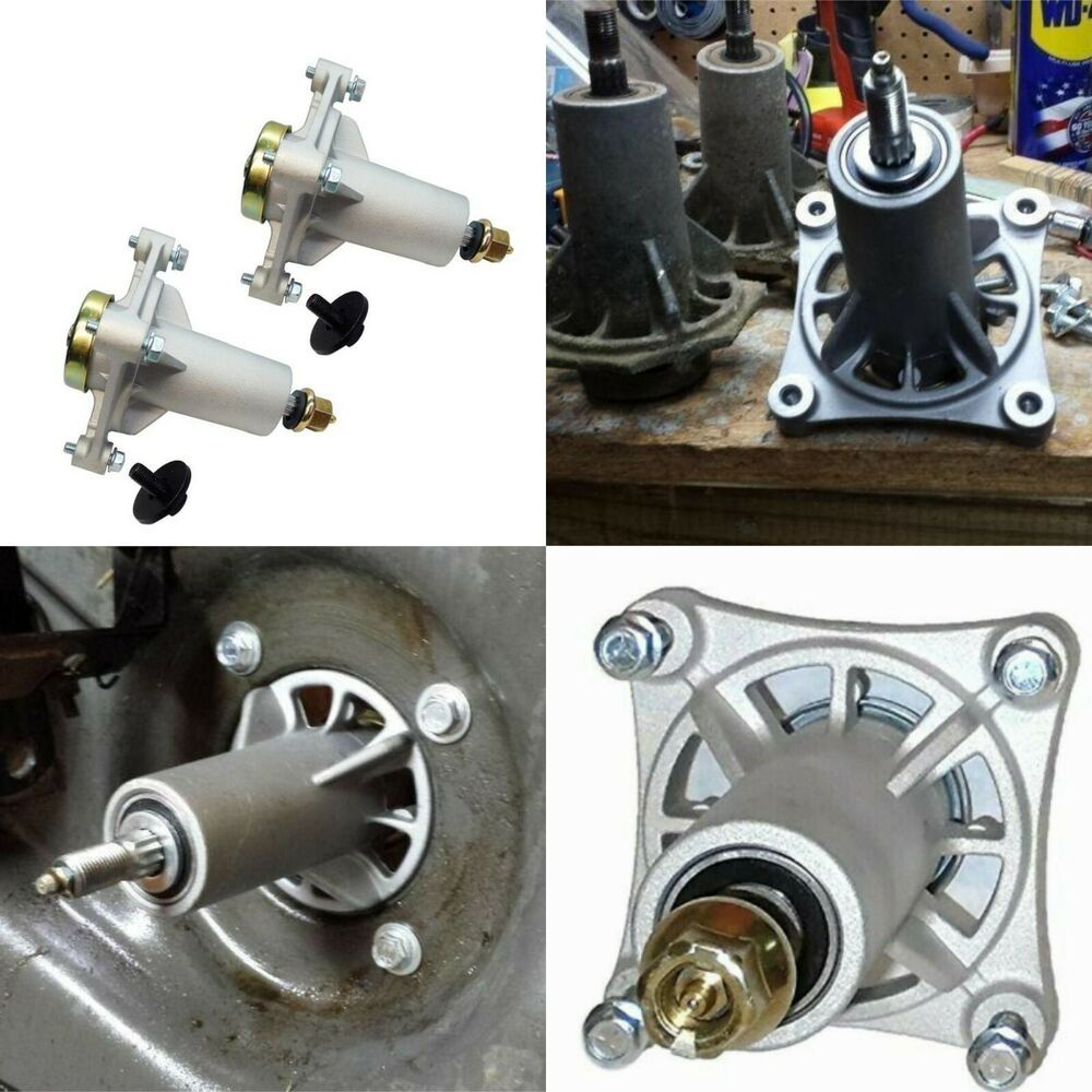 2 Pack Spindle Assembly For Riding Mower 46 48 54 Deck Ayp Sears Craftsman Branded Deck Spindles Spindle Riding Mower