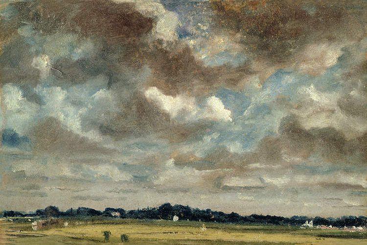 Extensive Landscape With Grey Clouds C 1821 John Constable Icanvas John Constable Paintings Clouds Landscape Art