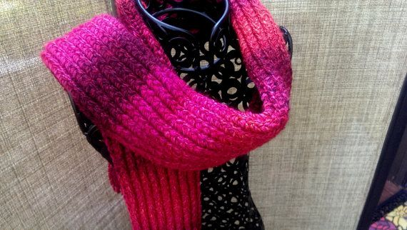 Mixed Berries Hand Knitted Scarf by GypsySoulsKnitting on Etsy, $35.00