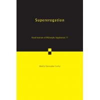 Supererogation / edited by Christopher Cowley