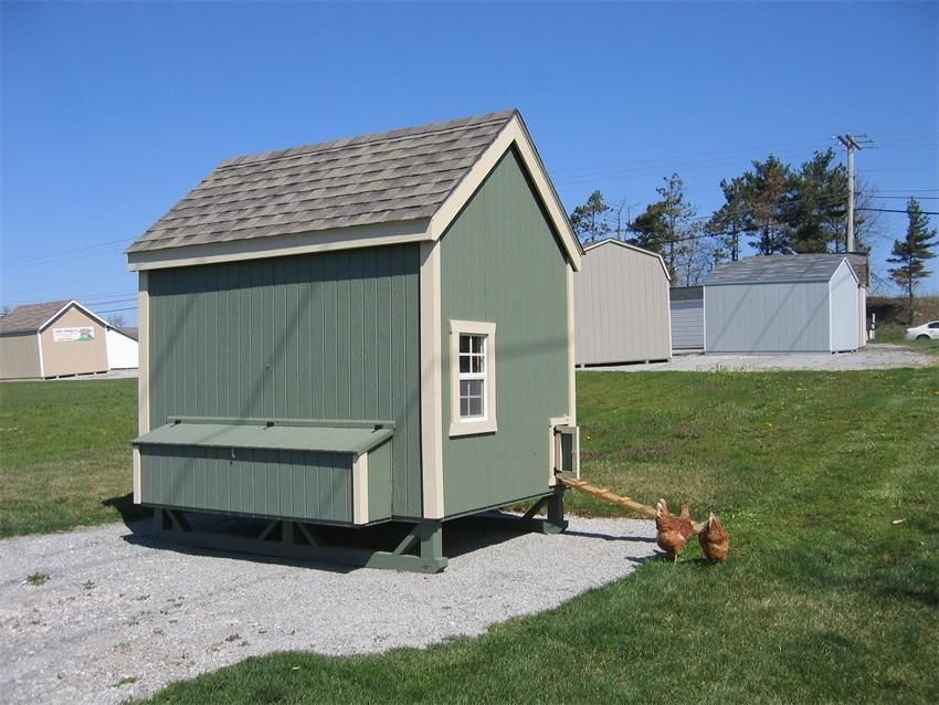 American Made Colonial Chicken Coop Kit From Eco Friendly Digs
