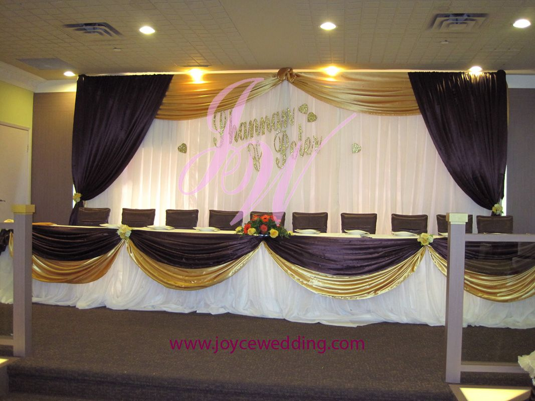 #Purple And #Gold #Wedding #Decoration