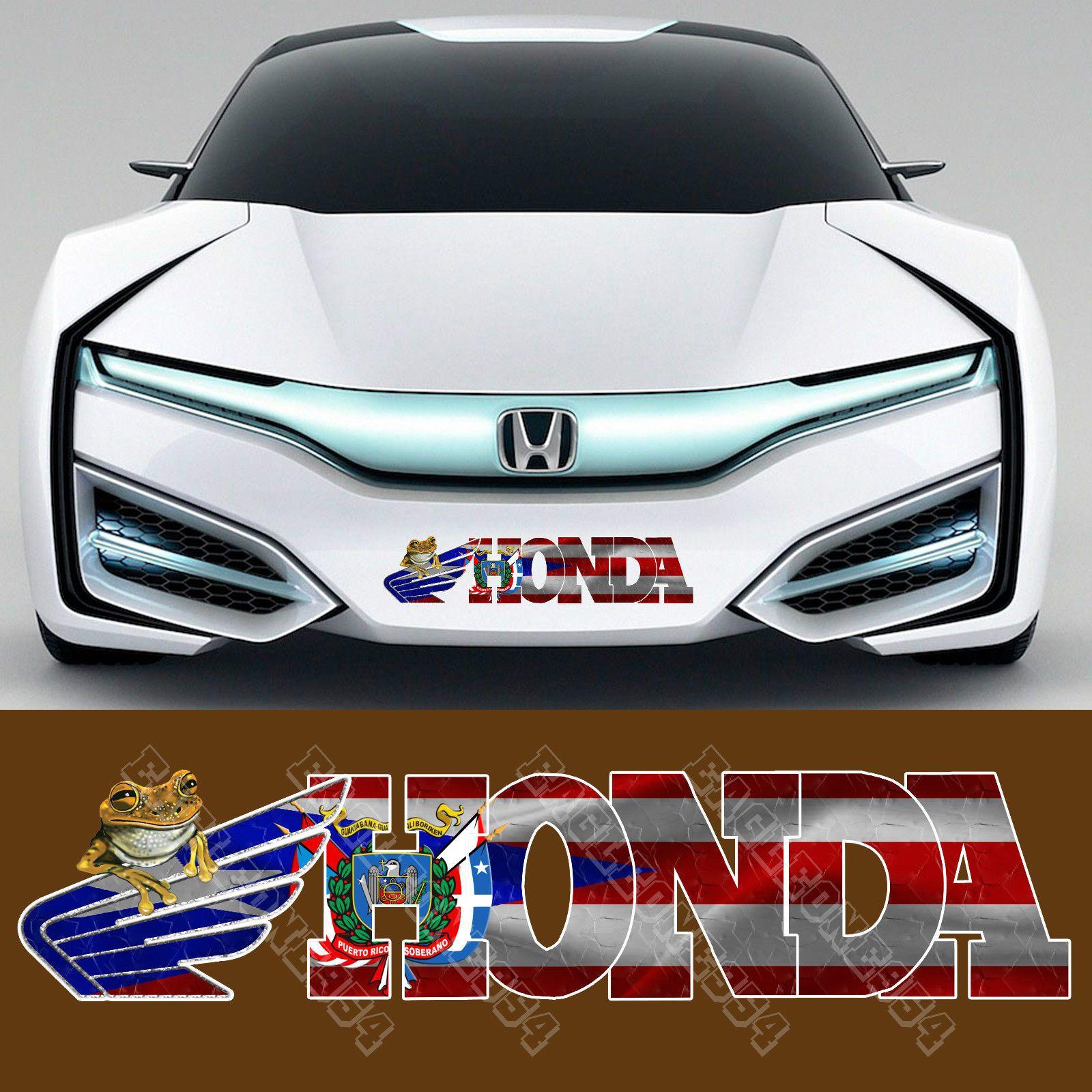 "1x Puerto Rico Flag Decal Puerto Rican Flag Decal 15""w x 3 75""H Fits Honda 11 | eBay | Honda ..."