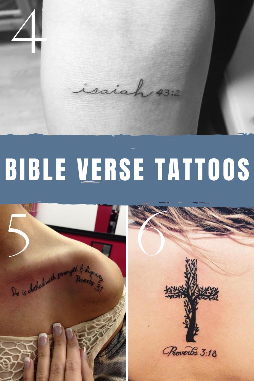 Inspirational Bible Verse Tattoos + Ideas - TattooGlee