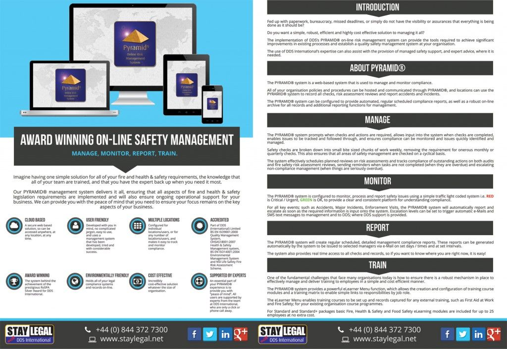 Health and safety software pyramid risk management