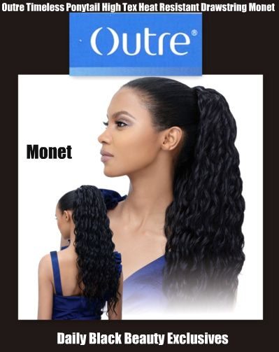 OUTRE TIMELESS PONYTAIL.............CHECK OUT (DAILY BLACK BEAUTY EXCLUSIVES) ON FACEBOOK FOR MORE