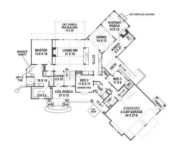 Harmony Cottage House Plan Craftsman Cottage Style Custom Floor Plan Home Building Elegant House Plans Craftsman House Plans House Plans Ranch House Plan
