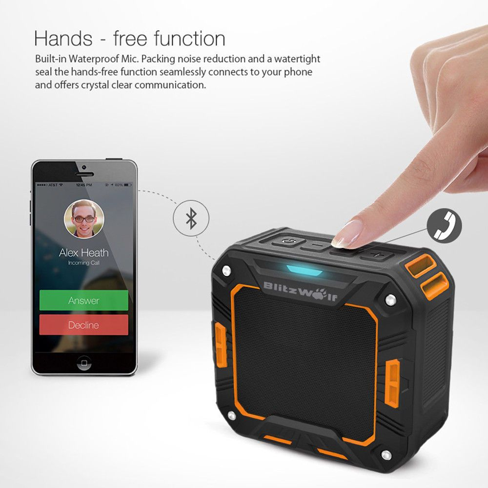 Blitzwolf Bw F2 Bluetooth Speaker Mini Wireless Stereo New Ebay Link