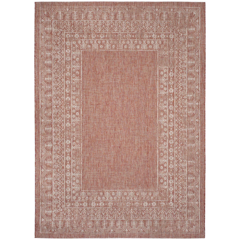 Marvelous In U0026 Outdoor Teppich Marea   Kunstfaser   Rot / Weiß   200 X 289 Cm Design