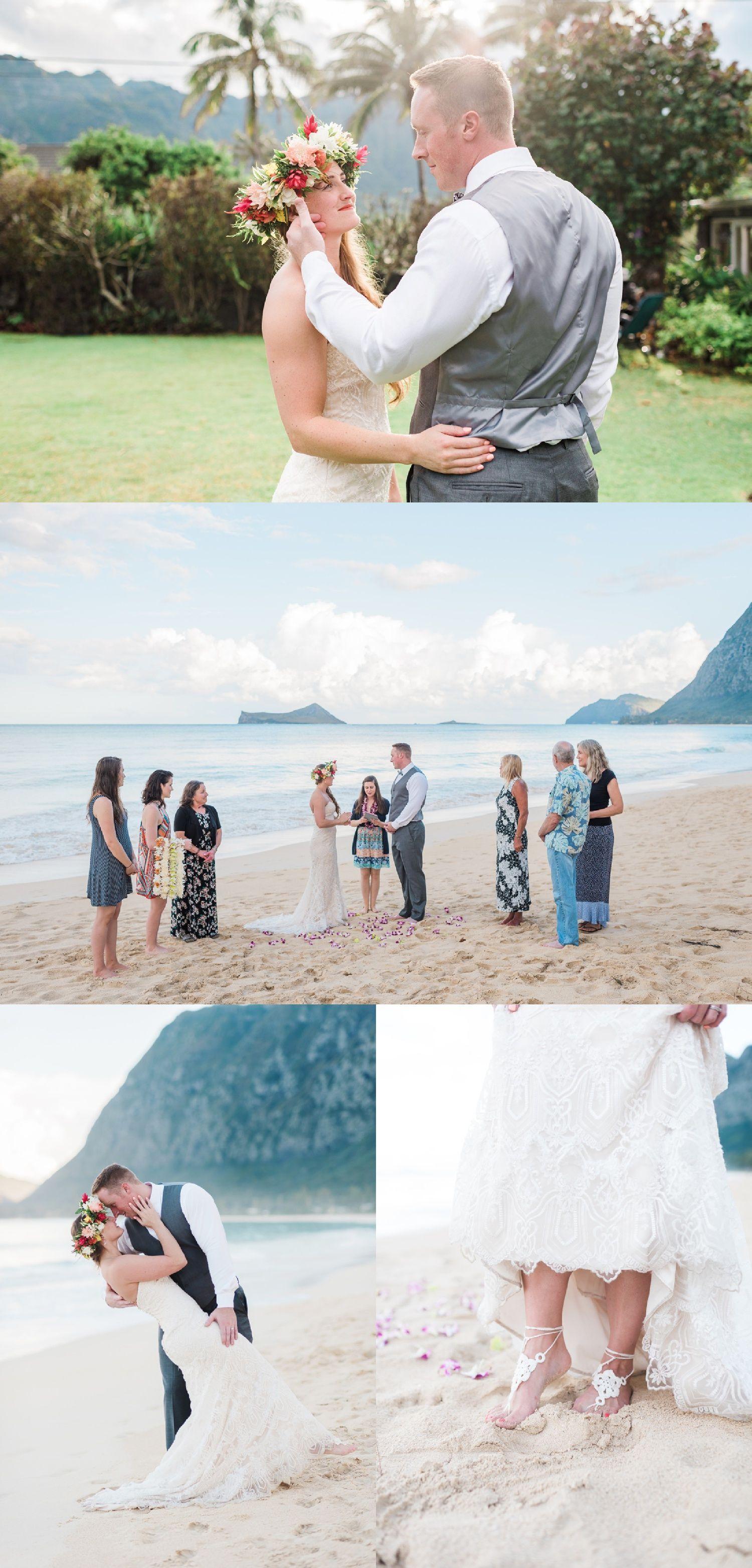 Kristal u sean at waimanalo beach u oahu elopement photographer my
