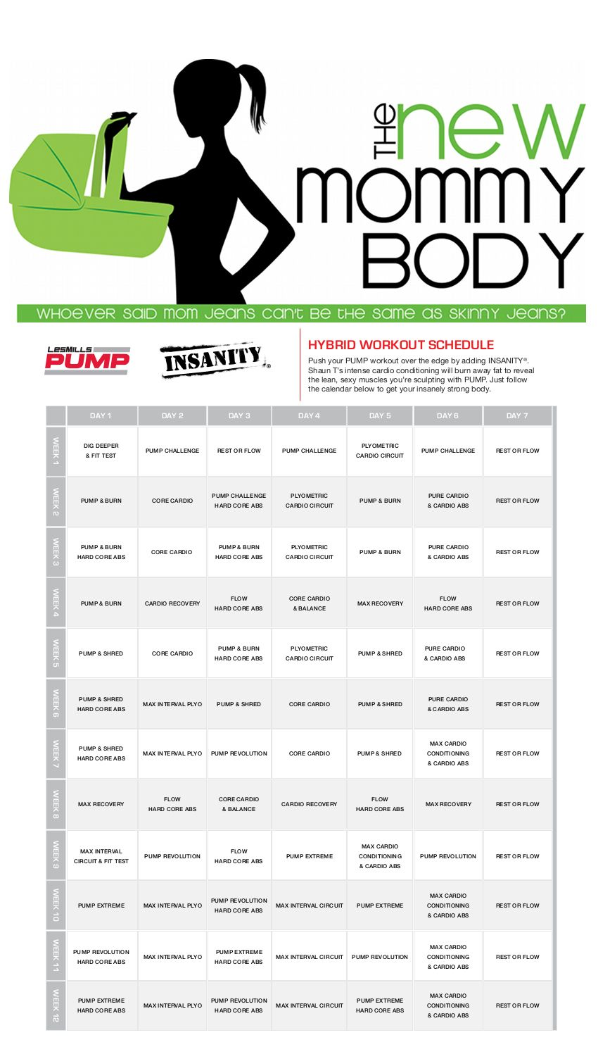Worksheets Beachbody Worksheets new mommy body les mills pump and shaun t insanity beachbody hybrid workout calendar