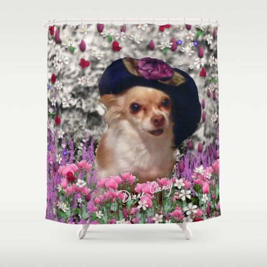 Chi Chi In Purple Red Pink White Flowers Chihuahua Puppy Dog