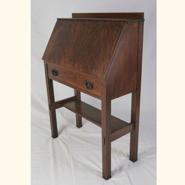 Gustav Stickley Drop Front Desk Stickley Furniture Stickley Furniture Plans Woodworking Desk Plans