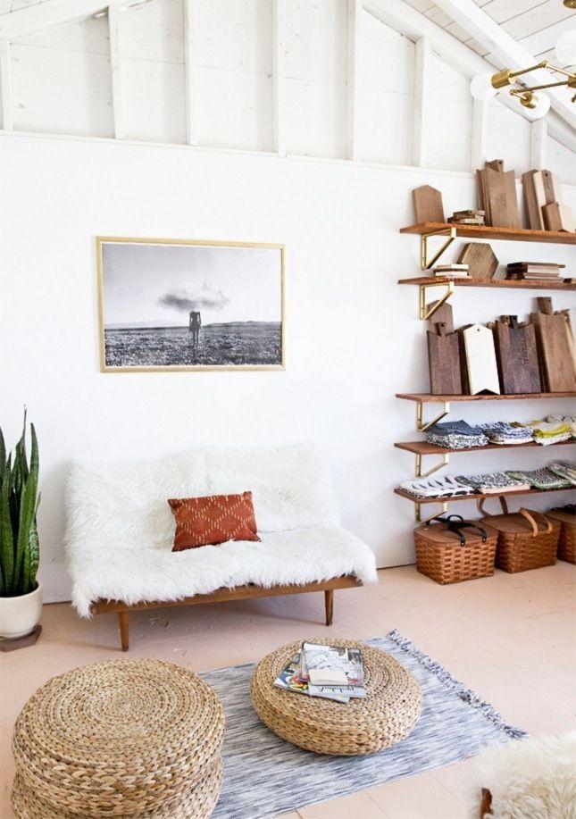 Kleines Wohnzimmer Minimalistisch Einrichten Boho Living