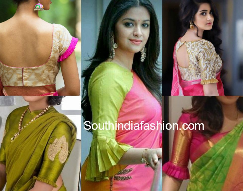 Blouse Designs With Frilled Sleeves South India Fashion Ruffle Blouse Designs Saree Blouse Designs Latest Designer Saree Blouse Patterns