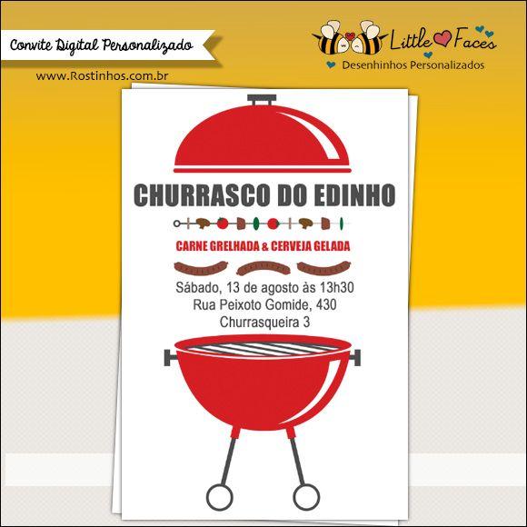 Convite Festa Churrasco Para Imprimir Churras Odb Party