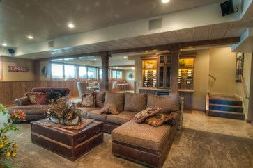 Rustic Basement Design Ideas, Pictures, Remodel and Decor