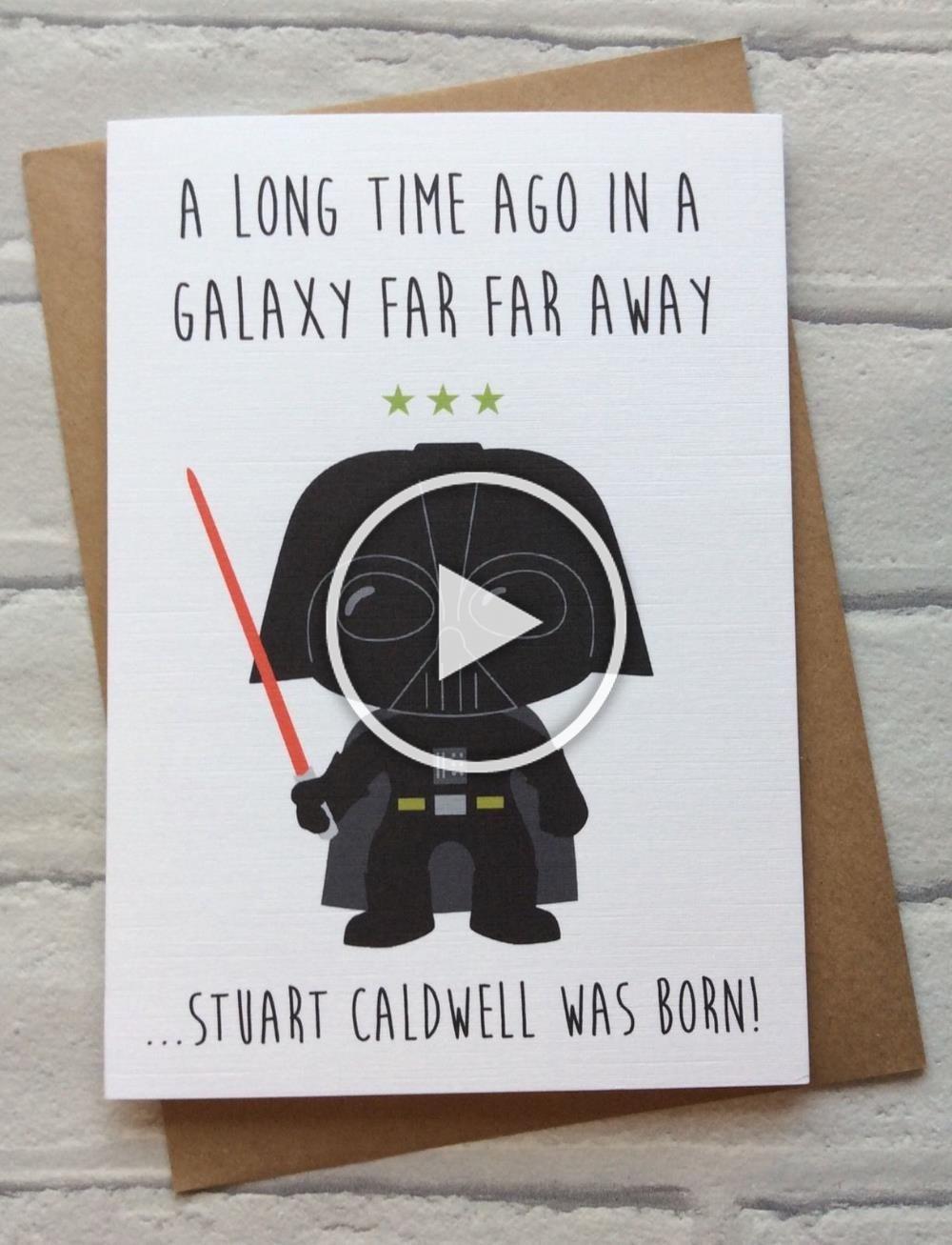 Personalised Handmade Star Wars Birthday Card Darth Vader Quirky Funny Geeky Ebay In 2020 Star Wars Birthday Geeky Humor Birthday Cards