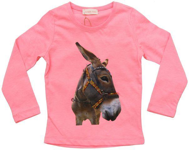 Simple Kids  pink t-shirt donkey