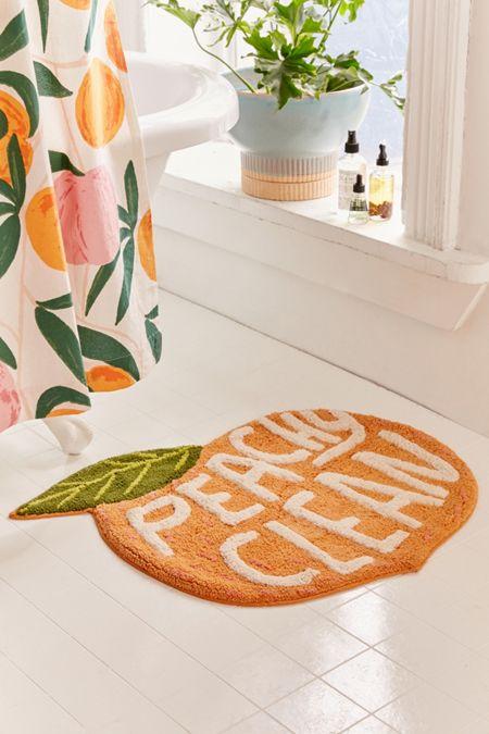 Allover Fruits Shower Curtain Bath Mat Bathroom Decor Decor