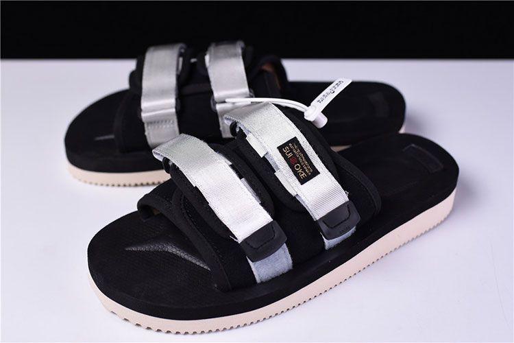 CLOT x Suicoke MOTO-VS sandals men and women trend slippers black sliver 388ee81f8