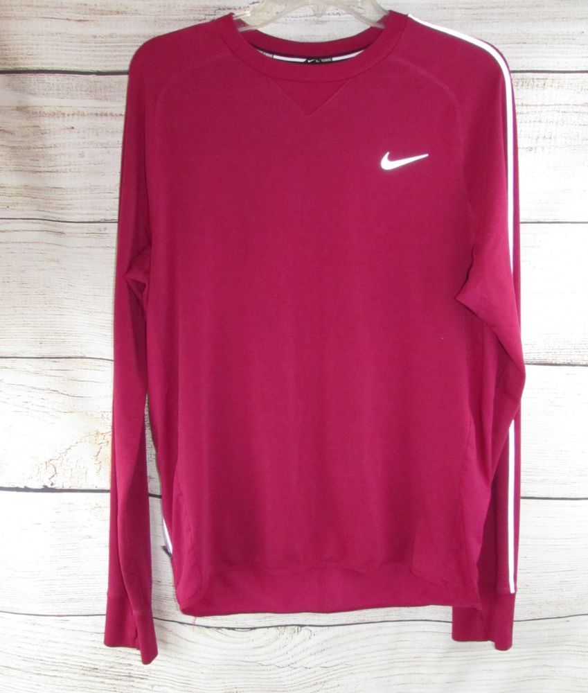c8679322 NIKE womens Running SHIRT M MEDIUM Pullover Long Sleeve ThumbHoles Dark  Pink #Nike #AthleticTops