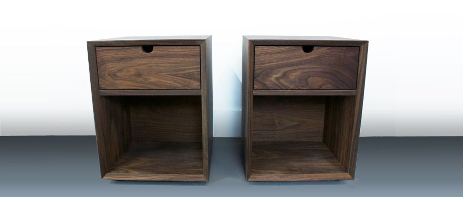 Twin Bedside Table Walnut Craft Design Realisation Bedroom