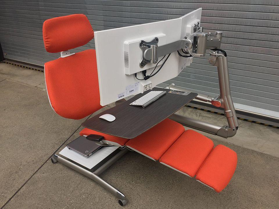 h henverstellbarer schreibtisch das beste ergonomische modell metal furniture pinterest. Black Bedroom Furniture Sets. Home Design Ideas