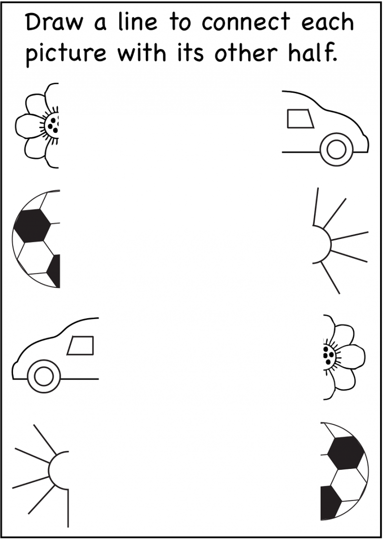 4 year old worksheets printable connect picture | Activities ...