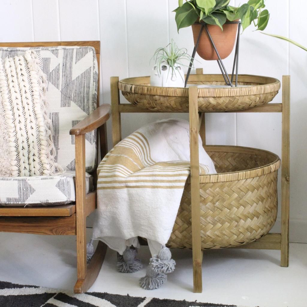 Habitat Beistelltisch Bamboo Basket Table In 2019 Fall 2018 Bamboo Basket Table
