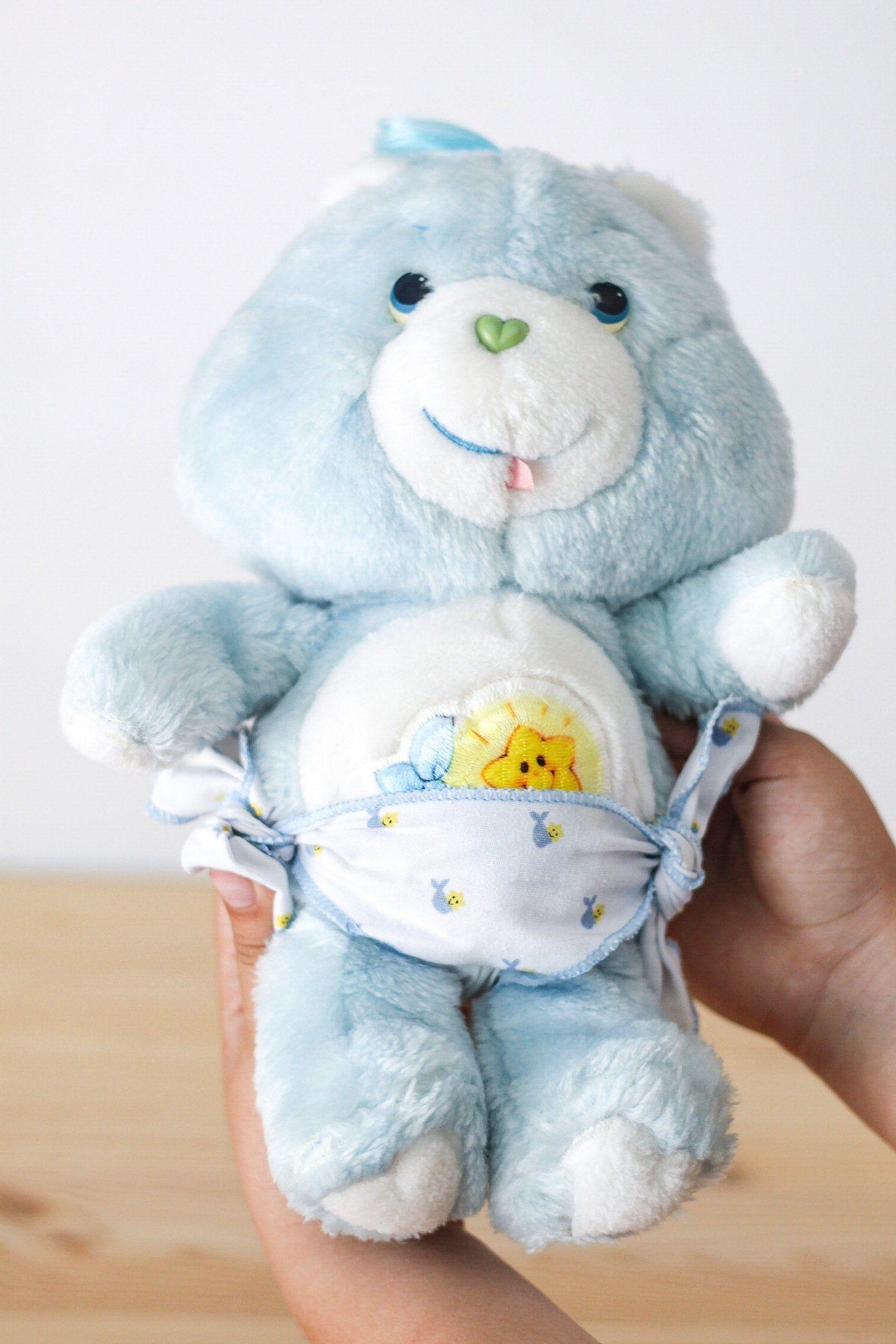 1983 care bears baby tugs bear etsy care bears plush