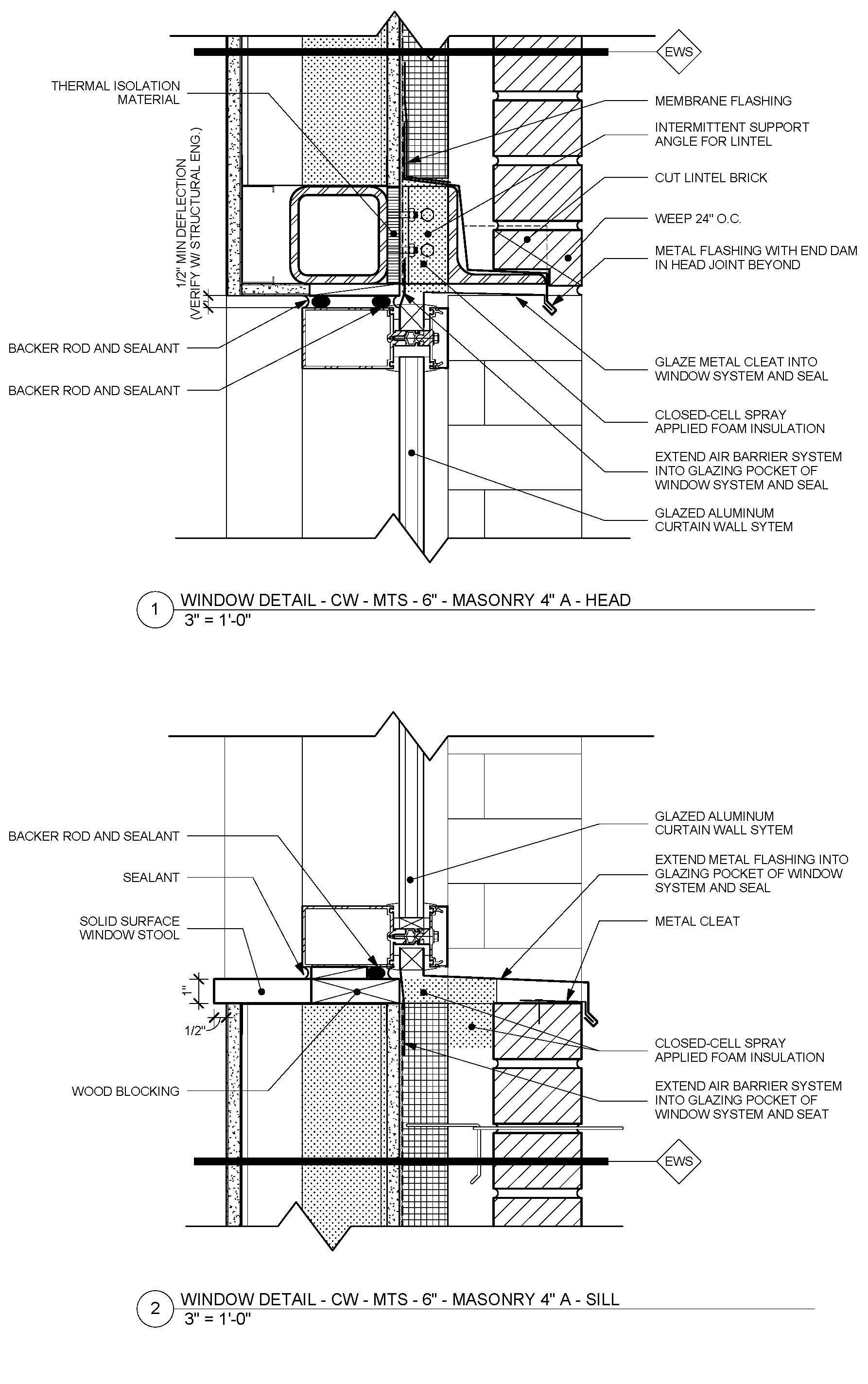 Standard Detail Of Metal Framed Masonry Veneer Wall With