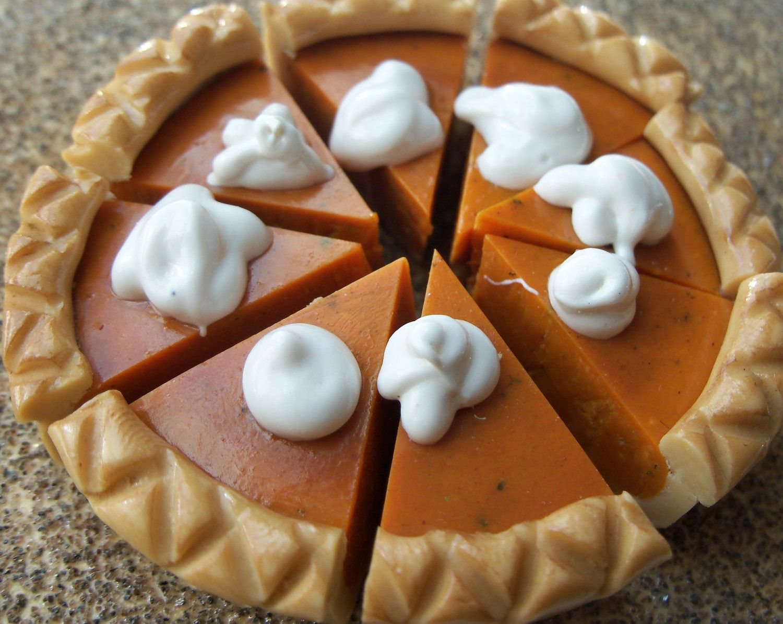 Pumpkin Pie for American Girl Dolls Polymer Clay Food