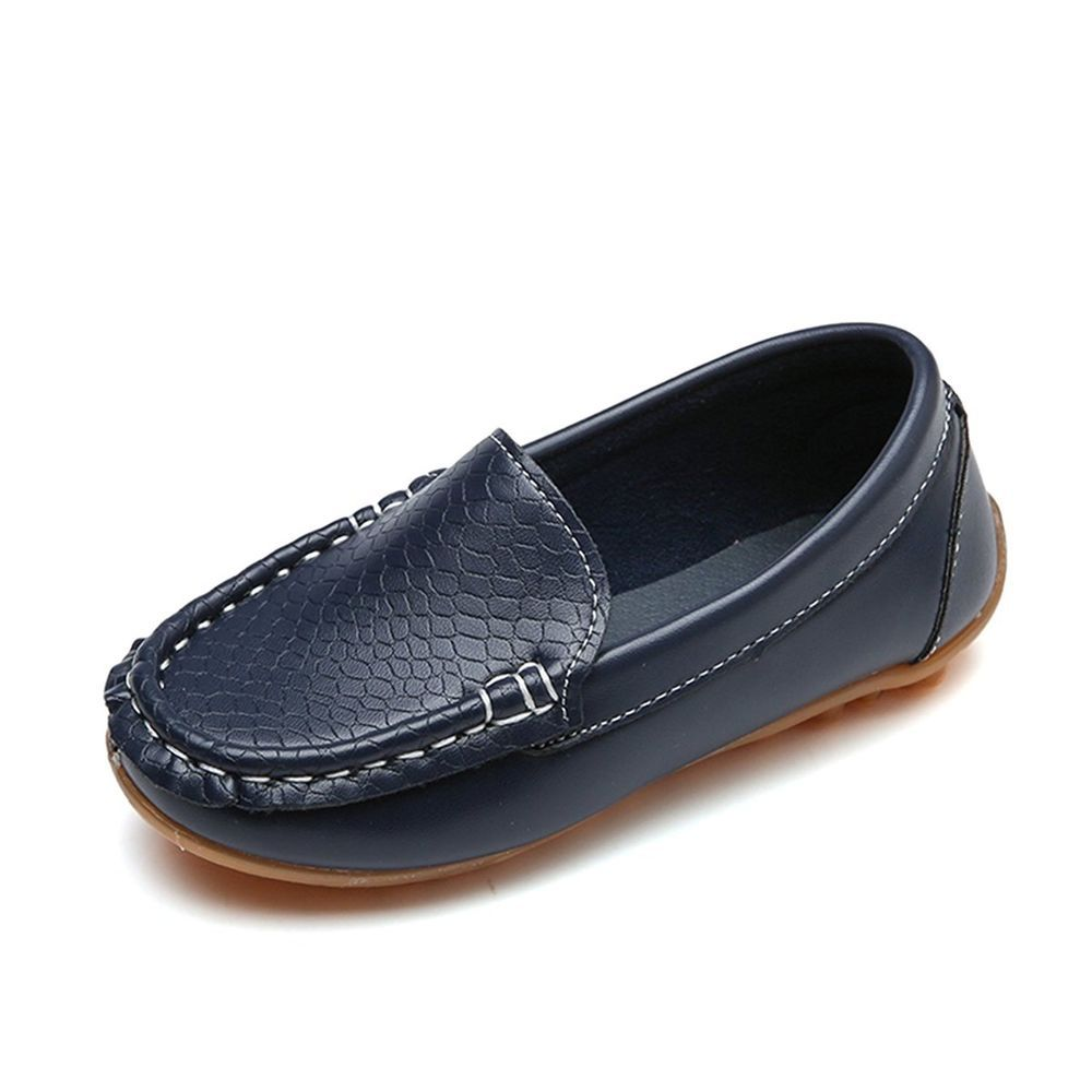 Toddler//Little Kid Boys Girls Soft Synthetic Leather Loafer Slip-on Boat-Dress Shoes//Sneakers