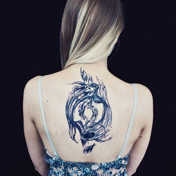 50 mysterious yin yang tattoo designs yin yang tattoos for Yin yang fish tattoo