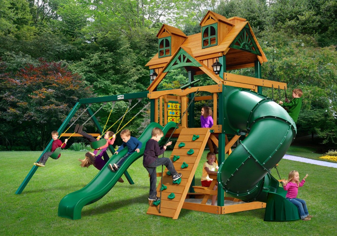 gorilla playsets malibu extreme kids outdoor wooden swingset
