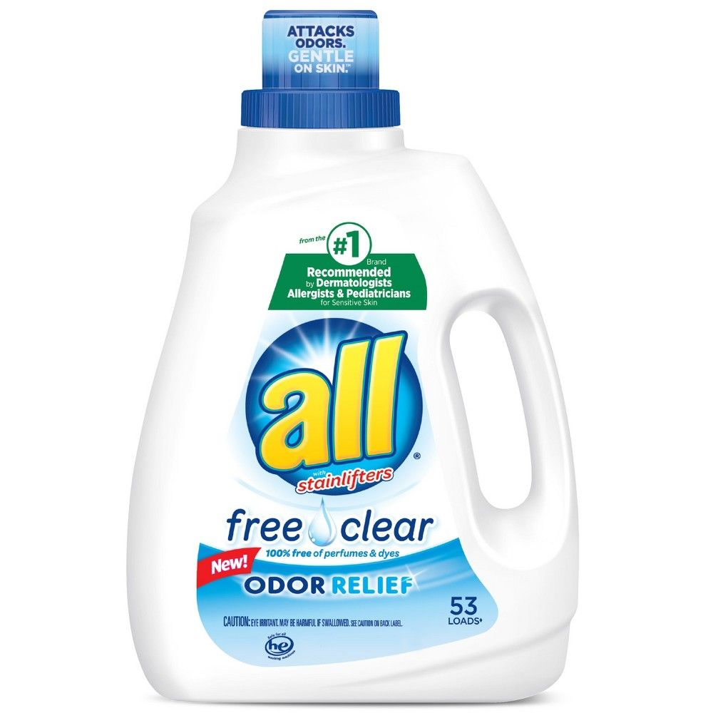 All Free Clear With Odor Relief Liquid Laundry Detergent 88 Fl
