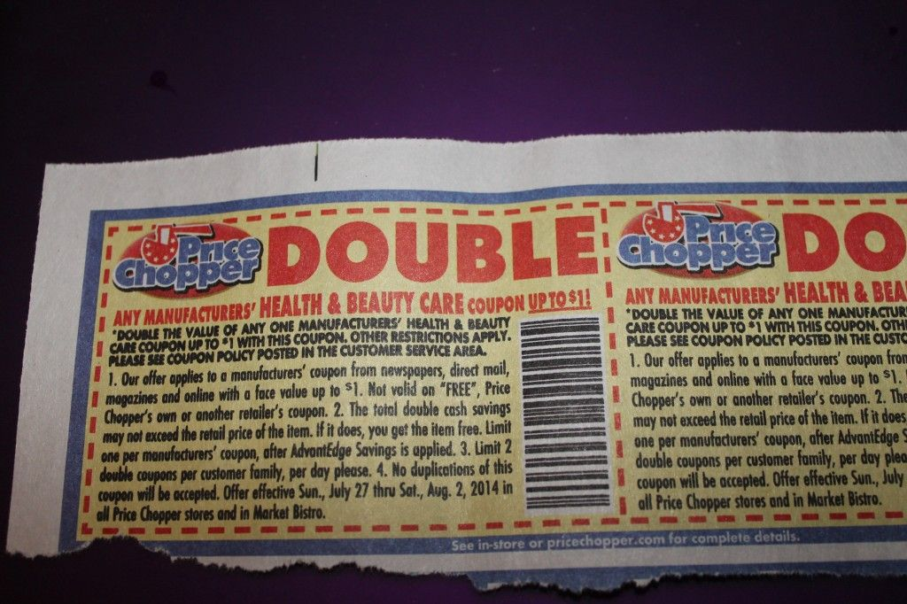 Price Chopper 1 Double Health and Beauty Coupons (With