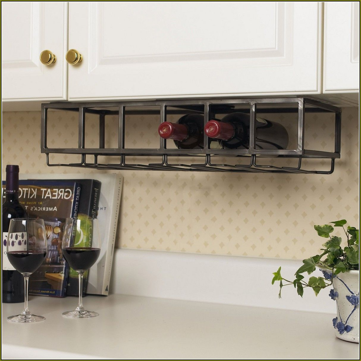 Kitchen Wine Cabinet Under The Cabinet Wine Rack Wine Storage Pinterest