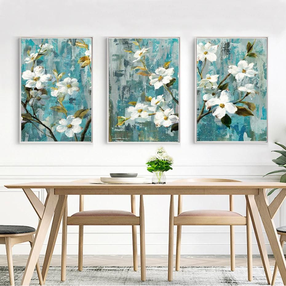 Modern Rustic Floral Wall Art White Apple Blossom Fine Art Canvas Prints Rustic Floral Wall Art Floral Wall Art Canvas Wall Art