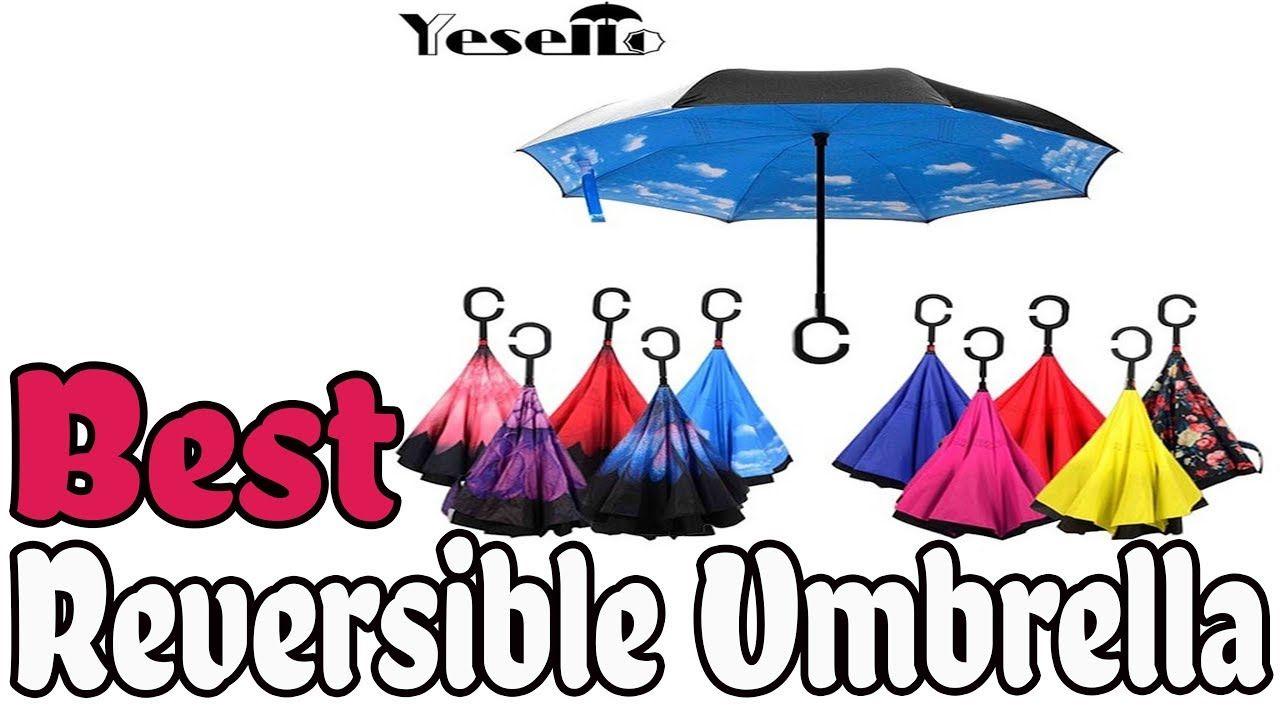 Folding Reverse Umbrella Double Layer Inverted Windproof