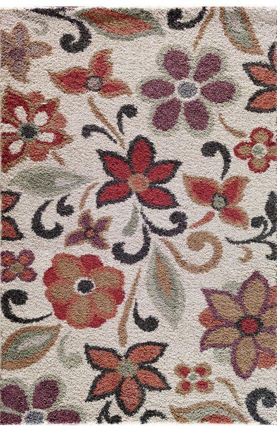 Central Oriental Bluma Pearl Rug Contemporary