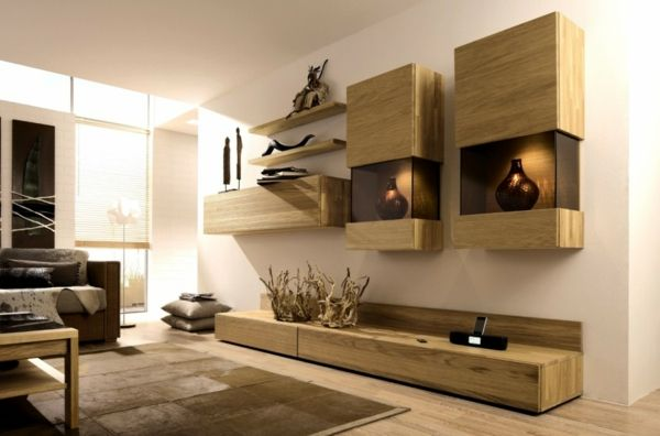 Le meuble suspendu de salon décore et modernise le salon | Meuble ...