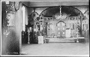 sisäkuva Leppäniemen ortodoksisesta Kristuksen kirkastuksen kirkosta Suojärvellä
